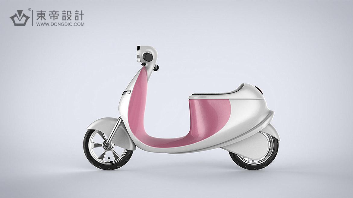 女款儿童电动车设计——温州东帝工业设计有限